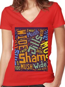 Tuam Slang Words (Daily) Women's Fitted V-Neck T-Shirt