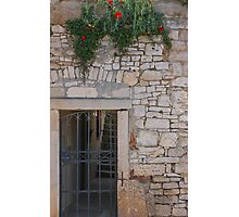Rustic Croatian Door Photographic Print