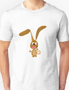 Cool Funny Brown Bunny Rabbit Art T-Shirt