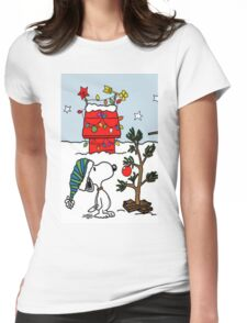 Snoopy 01 Womens Fitted T-Shirt