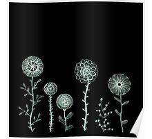 Spirograph flowers Poster