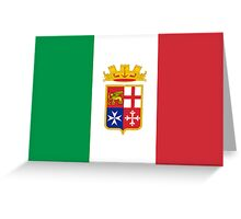 Naval Ensign of Italy Greeting Card