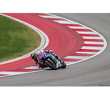 Jorge Lorenzo at Circuit Of The Americas 2014 Photographic Print