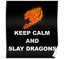 Keep Calm and Slay Dragons Poster