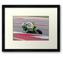 Alvaro Bautista at Circuit Of The Americas 2014 Framed Print