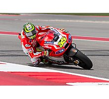 Cal Crutchlow at Circuit Of The Americas 2014 Photographic Print