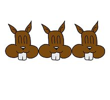 3 squirrel friends team by Style-O-Mat