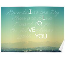 Adventures and I Love You Poster
