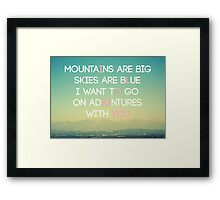 Adventures and I Love You (MODERN) Framed Print