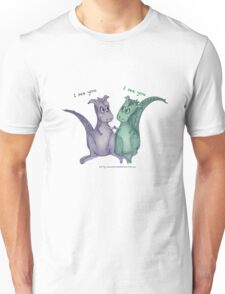 Friendly dragons with text 'I see you' Unisex T-Shirt
