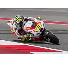Andrea Iannone at Circuit Of The Americas 2014 Photographic Print