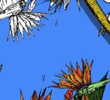 Iguana on Tropical Paradise Sticker