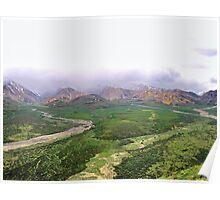 Northern rockies rugged terrain Poster