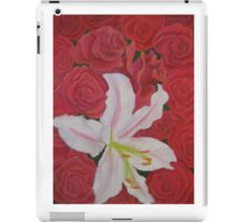 Lily with Roses iPad Case/Skin