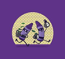 The Purps Flee The Scene by Lee Bretschneider