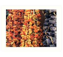 Dried vegetables Art Print