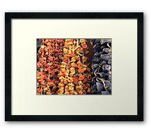 Dried vegetables Framed Print