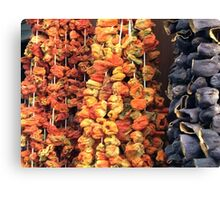 Dried vegetables Canvas Print
