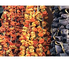 Dried vegetables Photographic Print