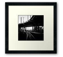 Portland Train Tracks. Collaboration with Sabrina Geerdes. Framed Print