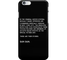 Law & Order: Special Victims Unit iPhone Case/Skin