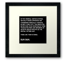 Law & Order: Special Victims Unit Framed Print