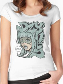 Dzynes must be destroyed! (aqua) Women's Fitted Scoop T-Shirt