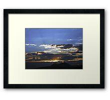 ©HCS Sunset And Smoke IA Framed Print