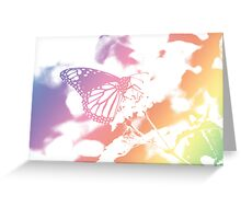Monarch Butterfly - Pastel Gradient Greeting Card