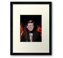 The Punisher + JFK Mash Up Framed Print