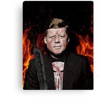 The Punisher + JFK Mash Up Canvas Print