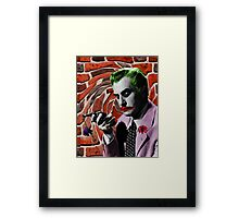 The Joker + Vincent Price Mash Up Framed Print