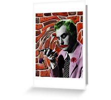 The Joker + Vincent Price Mash Up Greeting Card