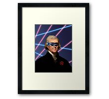 Cyclops + Thomas Jefferson Mash Up Framed Print
