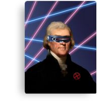 Cyclops + Thomas Jefferson Mash Up Canvas Print