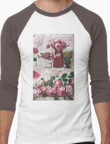 """Exclusive: """"eternal and ephemeral rose bouquet """" / My Creations Artistic Sculpture Relief fact Main 30  (c)(h) by Olao-Olavia / Okaio Créations Men's Baseball ¾ T-Shirt"""