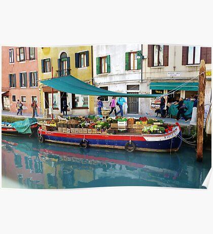 Floating Produce Market, Venice Poster