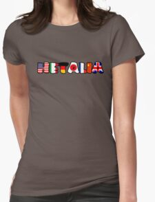 WORLD HETALIA FLAGS Womens Fitted T-Shirt
