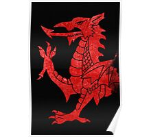 Welsh Red Dragon Crop Poster