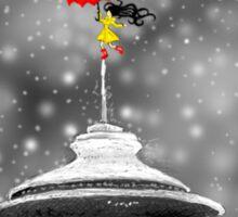 Seattle Snow Sticker