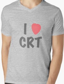 Steins Gate - I Heart CRT Mens V-Neck T-Shirt