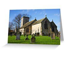 Village Church Greeting Card