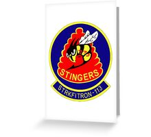 VFA-113 Stingers Patch Greeting Card