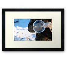 Frozen Bubble Reflection Framed Print