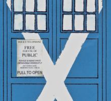 Scottish TARDIS. Sticker