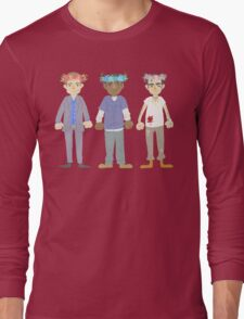 poorly matched friends (flowercrown version) Long Sleeve T-Shirt