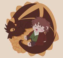 Smaug & Bilbo by nacurutu