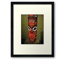 North American Totem Pole Framed Print