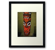 North American Totem Pole Framed Print