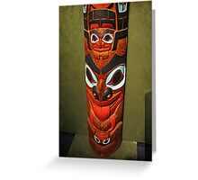 North American Totem Pole Greeting Card